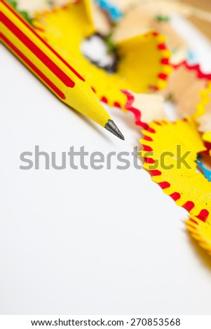 sharp of a pencil. close-up, shallow depth of field - stock photo