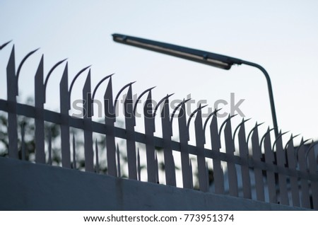 Sharp of fence for defend the thief