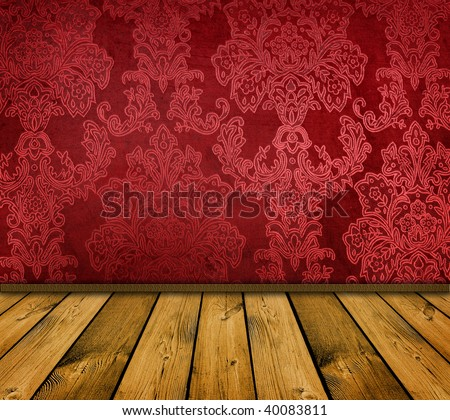 sharp red vintage interior - similar images available - stock photo
