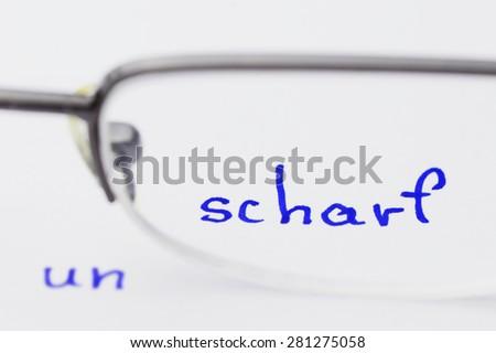 sharp unsharp - stock photo