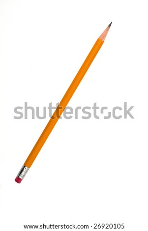 Sharpened pencil - stock photo