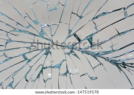Shattered glass background - stock photo
