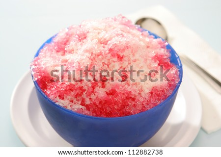 Shave Ice with Sala Flavor and condensed milk - stock photo