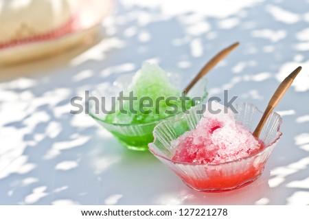 Shaved ice - stock photo