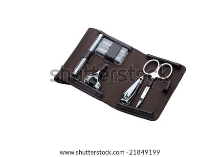 shaving and nail care set