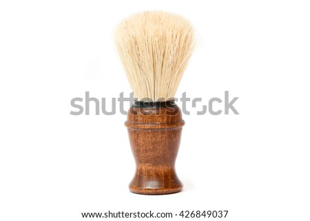 shaving brush on white