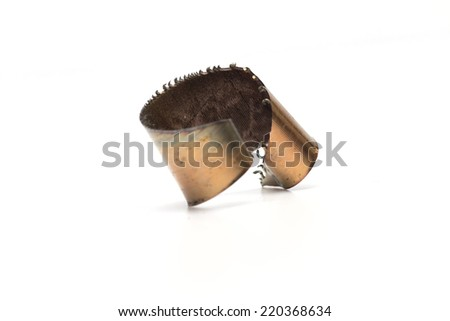 shavings on the white background - stock photo