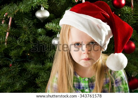 She didn't get what she wanted and now is heart broken - stock photo