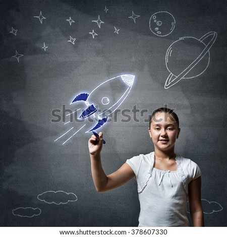 She is little future astronaut
