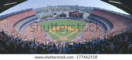 Shea Stadium, NY Mets v. SF Giants, New York - stock photo