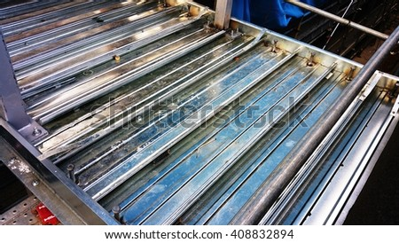 Shear studs are used in stud welding to secure steel frame building to create a shear connection between the steel and the concrete. They are fixed through the deck and straight to steel welding.