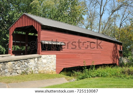 Shearers Cove Covered Bridge in Lancaster County, PA