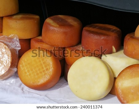 Sheep cheese from the Island Pag in Croatia - stock photo