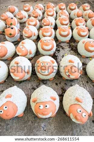 Sheep decoration - stock photo