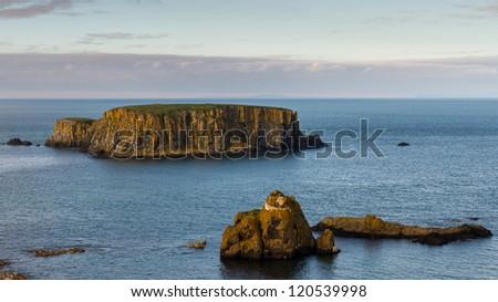 Sheep Island, North Antrim Coast, County Antrim, Northern Ireland - stock photo