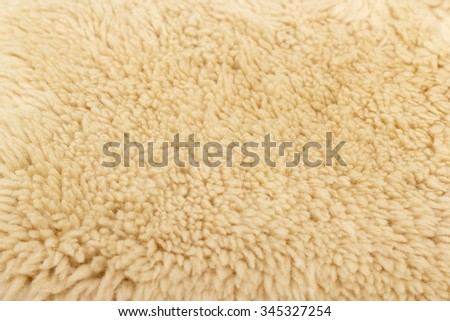 Sheepskin background - stock photo