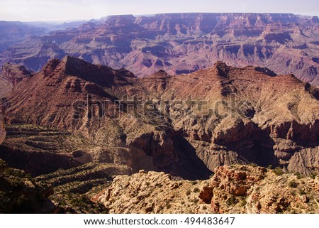 Sheer cliffs along the South Rim, Grand Canyon National Park, Arizona