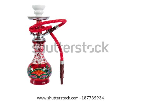 sheesha or hooka water pipe, ornate but affordable - stock photo