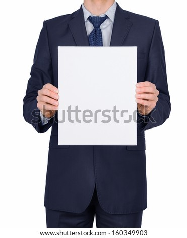 Sheet man suit isolated on white background