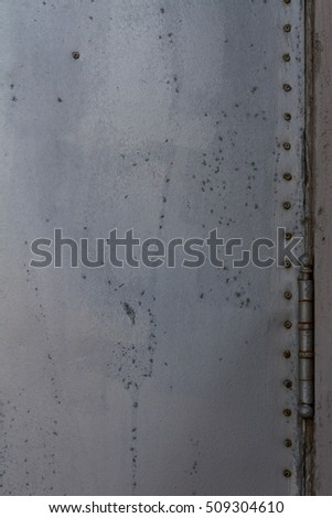 Sheet metal door