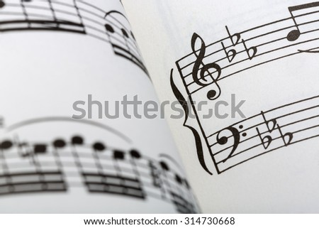 Sheet Music - stock photo