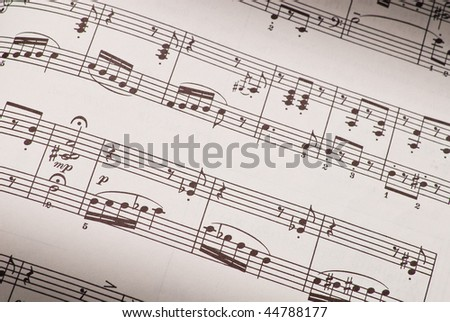 Sheet Music ( Spot Lighting )