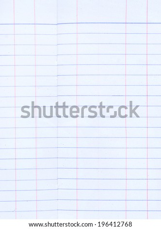 sheet of lined paper or notebook paper - stock photo