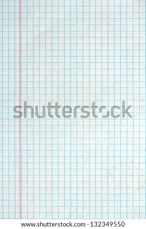 Sheet of looseleaf paper - stock photo