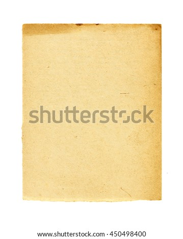 sheet of old paper for letters - stock photo