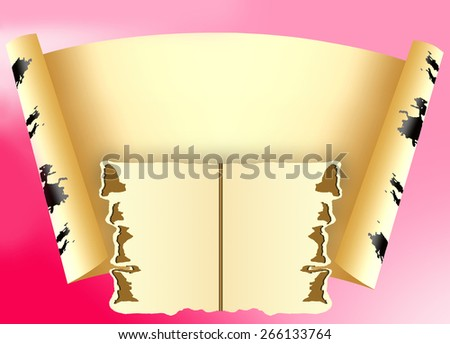 Sheet of paper for an inscription on a pink background - stock photo