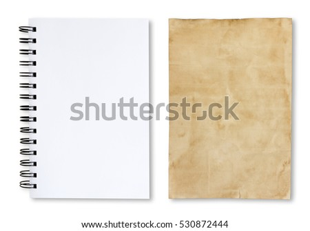 Sheet of Paper on a white background.
