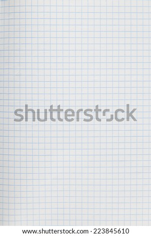 Sheet of scrap from notebook - stock photo