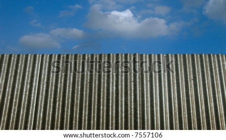 Sheet steel and blue sky