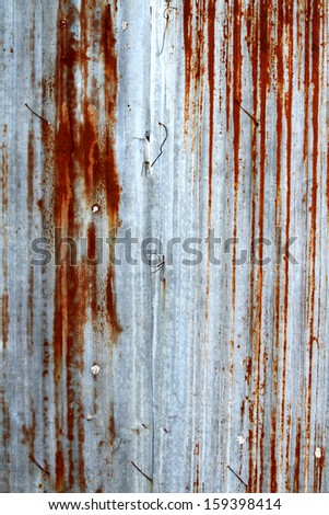 Sheet steel for fence  - stock photo
