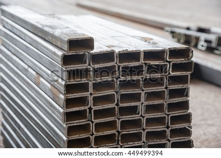 Sheet tube metal  for industry. - stock photo