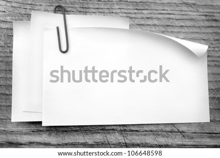 sheets for note - stock photo