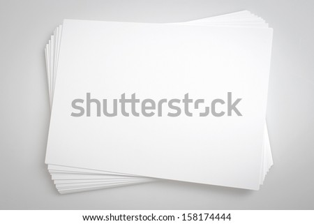 Sheets Of A4 Blank Paper - stock photo