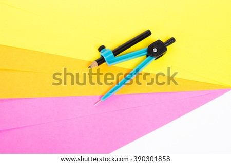 Sheets of colored paper with dividers - stock photo