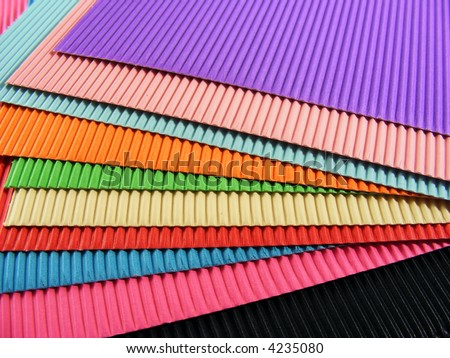 Sheets Colorful Corrugated Cardboard Stock Photo (Royalty Free ...