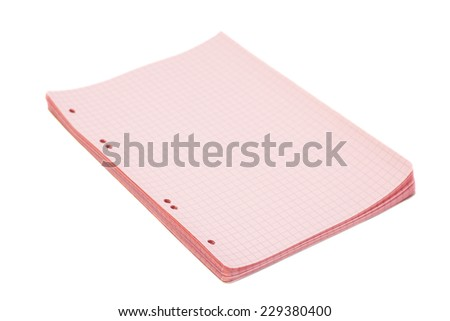 sheets of squared paper over white background  - stock photo