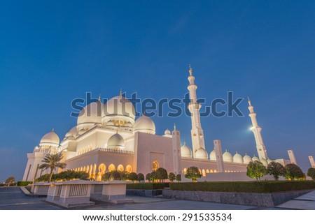 Sheikh Zayed Mosque in Abu Dabi - stock photo