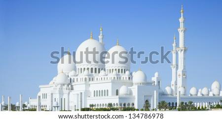 Sheikh Zayed Mosque in Abu Dhabi city, UAE - stock photo