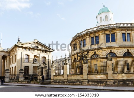 Sheldonian Theatre Oxford - stock photo