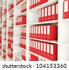 Shelf archive folder background - stock photo