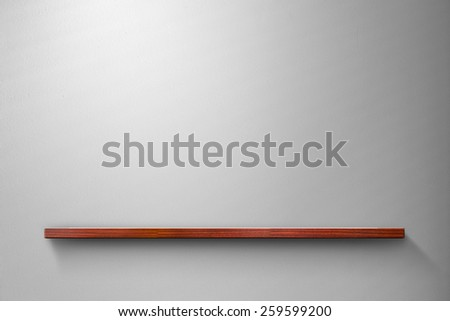 Shelf on the wall. - stock photo