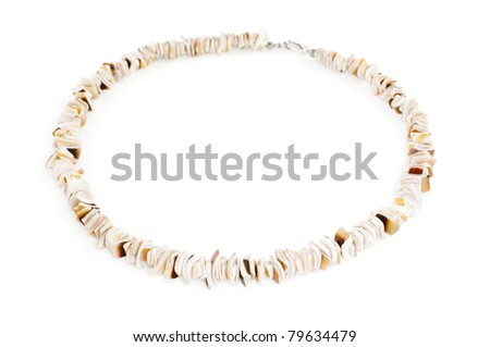 Shell fashion necklace on white
