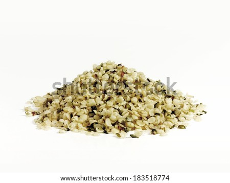 Shelled organic hemp seeds - stock photo