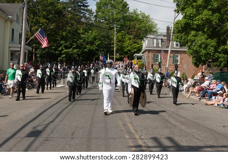 "Shelton, CT, USA - May 25, 2015: The individuals are some of the many participants at the ""Memorial Day Parade"" held on May 25, 2015 in Shelton, Connecticut, USA"