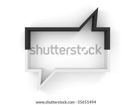 shelve chat box (more variants on my portfolio) - stock photo