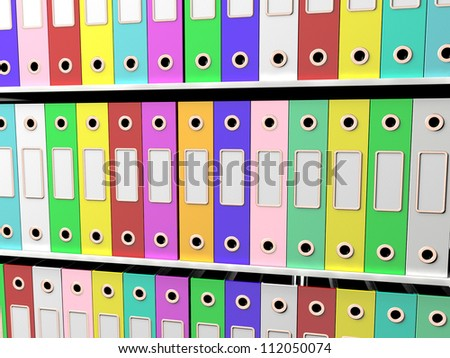 Shelves Of Files For Getting The Office Paperwork Organized